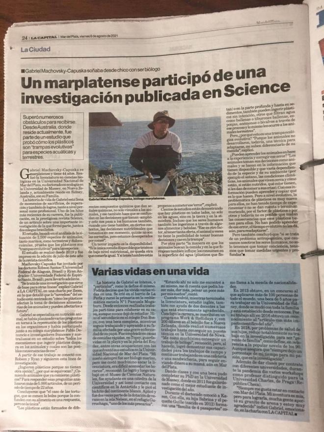Diario la Capital 6 August 2021